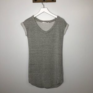 Athleta Heathered Gray Short Sleeve Mini Dress